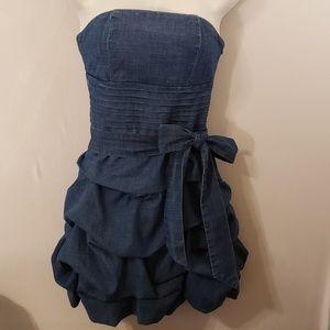 Love Culture Jean Dress Strapless Small